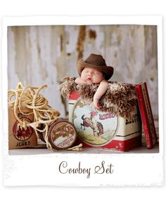 Lil Cowboy Newborn... would love to do a session like this!