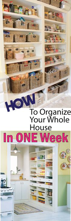 How to organize your house in one week.