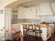 Great backsplash in this kitchen by Kendall Wilkinson