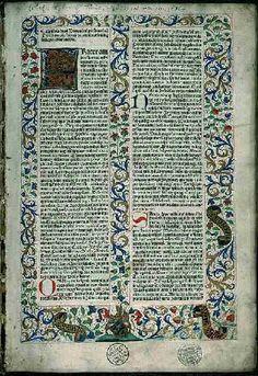 Rès Inc 20, f1 - Biblia latina cum ordinaria WALAFRIDI STRADONIS et Anselmus Laudunensis. Bib. municipale de Lyon.