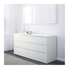 "White Bedroom Chest Of Drawers . White Bedroom Chest Of Drawers . Malm 6 Drawer Dresser White 3 4 "" In 2020 Ikea Malm Dresser, Dresser Drawers, Bedroom Drawers, Bedroom Dressers, Home Decor, Ikea, White Bedroom Furniture, Bedroom Furniture, Bedroom Chest Of Drawers"