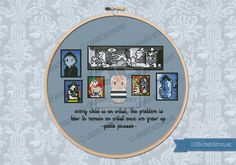 Mini People - Pablo Picasso mini Gallery by cloudsfactory Pop Culture Cross Stitch Artist
