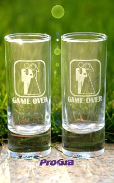 Drink-It Štamprlíky - sada :: Progra.sk - gravírovanie na mieru The Game Is Over, Pint Glass, Beer, Mugs, Drinks, Tableware, Products, Ale, Dinnerware