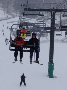 On the Lifts This is David and me riding the ski lift at Hidden Valley resort in PA. My first time skiing and my first time on a ski lift… was pretty exciting. I'm in the Red Jacket