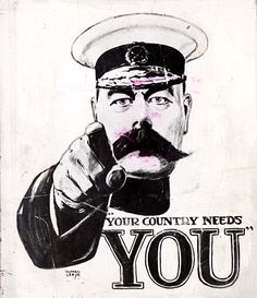 The army recruitment poster which was   devised almost a century ago.