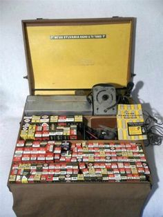 Vintage Sylvania Repairman Caddy Tool Case w 130 Tubes CRT Testivator More | eBay