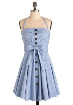 Zanzibar Dress in Blue | Mod Retro Vintage Dresses | ModCloth.com