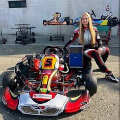 """Starting Karting 🏁 on Instagram: """"Fabienne is taking part in the Ferrari 448 Challenge this year but still finds time to go karting 🏁 @fabiennewohlwend . . . . . . Website…"""" Go Kart Plans, Go Kart Racing, Drift Trike, Karting, Car Drawings, Cars And Motorcycles, Ferrari, Photo Ideas, To Go"""