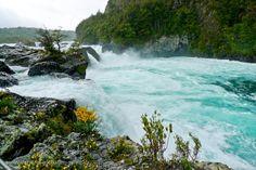 Saltos del Petrohue waterfall, Parque Nacional Vicente Perez Rosales