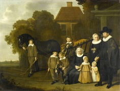Group Portrait of the Meebeeck Cruywagen Family [.] by Jacob van Loo, Rijksmuseum, Public Domain French Paintings, Old Paintings, Beautiful Paintings, Amsterdam, Oil On Canvas, Canvas Prints, Baroque Painting, Dutch Golden Age, Flamingo