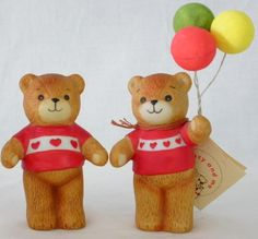 1979 Enesco Lucy Rigg Lucy And Me Bear With Balloons Figurines