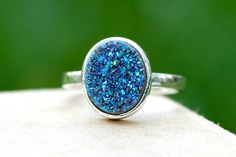 Geode RingStatement RingAgate RingSparkle RingDruzy by HWSTAR, $46.00