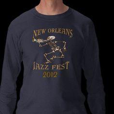 Jazz Fest Skeleton 2012 Tee Shirt