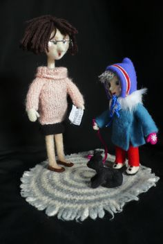 needle felted dolls from Russian cartoon