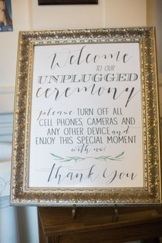 13 Unplugged Wedding Signs To Remind Guests To Stay In The Moment