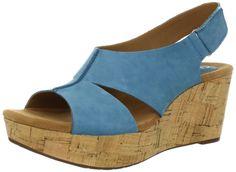Amazon.com: Clarks Women's Casylynn Lizzie Wedge Sandal: Shoes