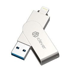 iClever 64G USB 3.0 Flash Drive with MFi Lightning Connector for iPhone, iPad, iPod, iOS Device - iClever - iConnect. iCreate. iClever. iClever U2 64GB iPhone Flash Drive provides instantly 64GB external storage space which let you enjoy more picture or video without worrying about iphone or ipad filled up. Just plug it to your iphone and then you can play music, video or games in the drive d...