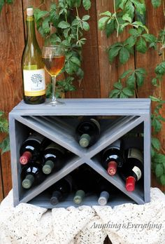 Create additional wine storage with this quick and easy DIY for using a wooden crate! Plus 30 more great DIY Ideas for Using Michaels Storage Crates in your home for organizing and storage as well as unique home decor! The craft possibilities are endless! Old Wooden Crates, Diy Wooden Crate, Diy Wooden Projects, Wooden Crafts, Crate Storage, Wine Storage, Storage Ideas, Record Storage, Extra Storage