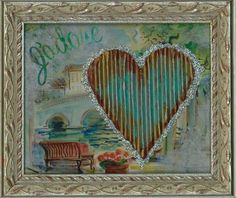 """City Of Love"" Hearts Under Construction  By Sheri White Available at requisites gallery In Chesapeake, VA"