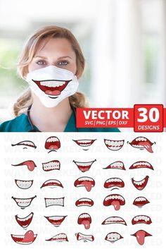 30 MOUTHS FACE MASK svg patterns face mask pattern bundle | Etsy Diy Mask, Diy Face Mask, Face Masks, Animal Face Mask, Animal Faces, Funny Mouth, Tapas, Funny Face Mask, Sewing Patterns Free