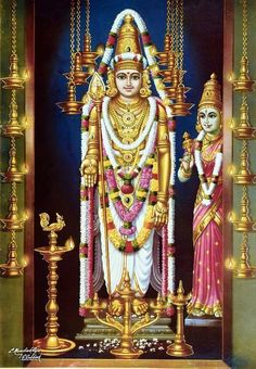 Lord Murugan with consort Valli Lord Vishnu, Lord Ganesha, Ganesha Art, Om Namah Shivaya, Rama Image, Lord Murugan Wallpapers, I Love You God, Shiva Wallpaper, Clock Wallpaper