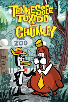 Tennessee Tuxedo and Chumley Classic Cartoon Characters, Favorite Cartoon Character, Cartoon Tv, Classic Cartoons, Cartoon Shows, Cartoon Memes, Cartoon Drawings, Vintage Cartoons, Good Cartoons