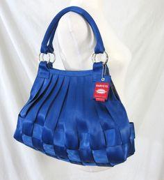 Harveys Seatbeltbags Indigo Blue Large Stella Purse Handbag Seat Belt Bag USA #HarveysSeatbeltbag #Hobo