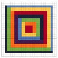 Cross Stitch: Rainbow Block 1 - The Crafty Mummy