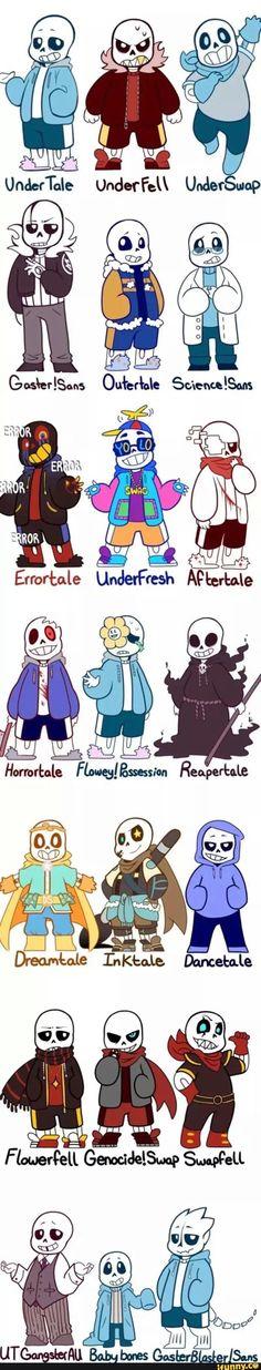 sans, undertale, underfell, underswap, reapertale