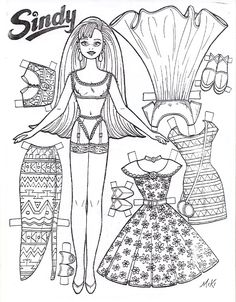 paper dolls to cut out and color   wants to color the entire set would want to use