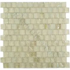 Beige Cream/Beige 7/8'' x 7/8'' Glass Frosted & Iridescent Tile
