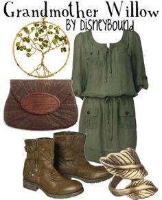 Grandmother Willow inspired outfit by Disney Bound Cosplay Casual, Grandmother Willow, Disney Inspired Fashion, Disney Fashion, Hurley, Estilo Disney, Look Fashion, Womens Fashion, Character Inspired Outfits