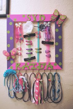Hair bow hanger - So cute for a little girl