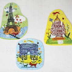 VILAC ナタリー・レテ パズル エッフェル - パリと、猫と、エトセトラ。「マッシュノート」