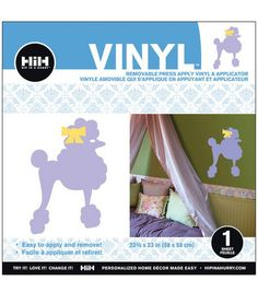 Hip In A Hurry Vinyl 23''-Purple Poodle & Wall Decor at Joann.com