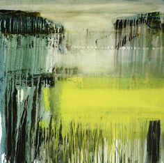 "Saatchi Online Artist: Gina Parr; Mixed Media, 2013, Painting ""When the river meets the sea"""