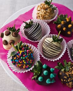 they say variety is the spice of life...varied chocolate covered strawberries are the spice of my life :P