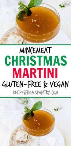 Looking for a Christmas martini or Christmas cocktail? Try this rich and flavourful Mincemeat Christmas Martini. #christmasdrinks #christmascocktail #christmasmartini #christmasrecipes #mincemeatcocktail #mincemeat