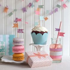 Use your washi tape to decorate your next mini party.