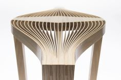 Sculptural Tables Named Ike and Stella by Nucharin Wangphongsawasd is a graduate student in the Woodworking and Furniture Design at Rochester Institute of Technology