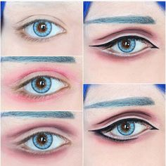 Discover more about makeup tips & techniques Anime Eye Makeup, Anime Cosplay Makeup, Costume Makeup, Eyeshadow Makeup, Makeup Art, Makeup Tips, Makeup Ideas, Anime Make-up, Cosplay Make-up