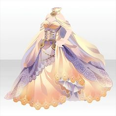 Tenpesta laboratory in the sky Cosplay Outfits, Anime Outfits, Cool Outfits, Dress Drawing, Drawing Clothes, Pretty Dresses, Beautiful Dresses, Anime Dress, Fantasy Dress