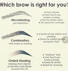 Different techniques of microblading . Different techniques of microblading Mircoblading Eyebrows, Permanent Makeup Eyebrows, Eyebrow Makeup, Eyeliner, Makeup Kit, Tattooed Eyebrows, Types Of Eyebrows, Shape Eyebrows, Eye Brows