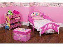 $346.99 Disney Princess Room in a Box ( Bed, Soft Toy Box , 6 Bin Toy Storage Organizer, 7 Small Wall Stickers)