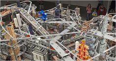 """Chris Burden """"Metropolis II"""" Massive miniature Racetrack Sculpture"""
