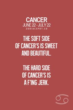 Cancer Zodiac Sign soft side & hard side. Really???