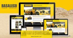 Responsive website for Basaleco (trader in new and used Construction Equipment).