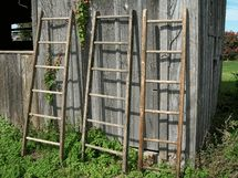 Yay- found a place to ge tthe ladder I have been looking for (without scouring garage/yard sales). I want this for a quilt rack. - Old 6 Rung Ladder - Antique Ladder for Decorating