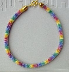 Bead crochet rope, via Flickr.