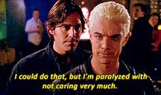No one throws shade like Spike. 24 Reasons Why Buffy Should Have Chosen Spike Buffy The Vampire Slayer Funny, Vampire Love, Snappy Comebacks, Spike Buffy, Buffy Summers, Original Vampire, Sarah Michelle Gellar, Joss Whedon, Apocalypse